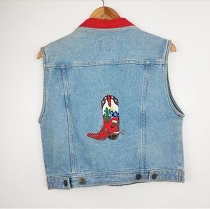 Wanted Threads | Cowboy Boot Denim Vest